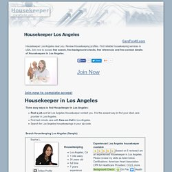 Find Housekeeper Los Angeles - CareForAll.com