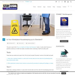 Is Your Workplace Housekeeping up to Standard? - DDS International