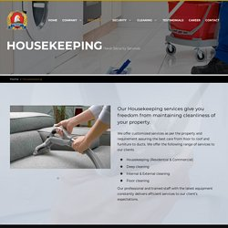 Housekeeping service in UAE,Residential Cleaning Service Dubai - Hawk Security Services