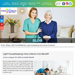 Light Housekeeping: How a Senior Can Benefit