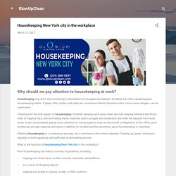 Housekeeping New York city in the workplace