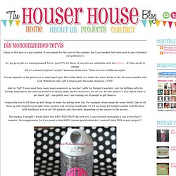 The Houser House: DIY Monogrammed Tervis