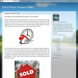 Sell House Fast to Real Estate Investor in San Antonio