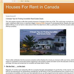Houses For Rent in Canada: 3 Simple Tips for Finding Incredible Real Estate Deals