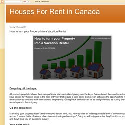 Houses For Rent in Canada: How to turn your Property into a Vacation Rental