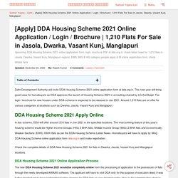 [1,210] DDA Housing Scheme 2021 Online Application Form