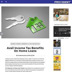Housing Loan Tax Benefit