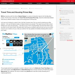Travel Time and Housing Prices Map on Datavisualization