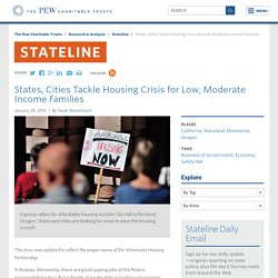 States, Cities Tackle Housing Crisis for Low, Moderate Income Families