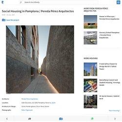 Social Housing in Pamplona / Pereda Pérez Arquitectos