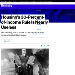 Housing's 30-Percent-of-Income Rule Is Nearly Useless