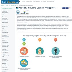 Pag-IBIG Housing Loan in Philippines