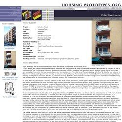Housing Prototypes: Collective House