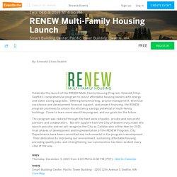 RENEW Multi-Family Housing Launch Registration
