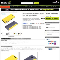 Housse HTC One Rock Elegant Side Flip - Jaune Citron