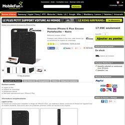 Housse iPhone 6 Plus Encase Portefeuille – Noire