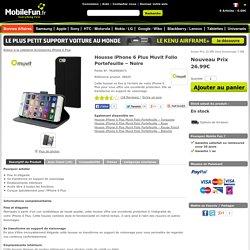 Housse iPhone 6 Plus Muvit Folio Portefeuille – Noire