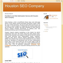 Find Best Local Web Optimization Service with Houston SEO Company