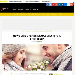 How come the Marriage Counselling is Beneficial?