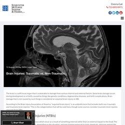 Brain Injuries: Traumatic vs. Non-Traumatic