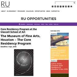 The Museum of Fine Arts, Houston – The Core Residency Program