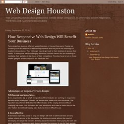 How Responsive Web Design Will Benefit Your Business