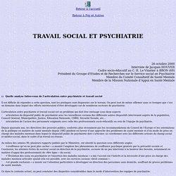 travail social et psychiatrie