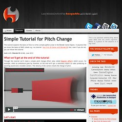 Simple Tutorial for Pitch Change