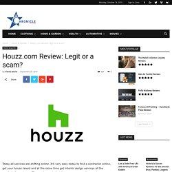 Houzz.com Review: Legit or a scam?