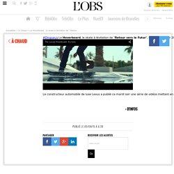 """Le Hoverboard, le skate à lévitation de """"Retour vers le Futur"""", était prévu pour 2015 dans la trilogie... Grâce àLexus, la technologie est à l'heure au rende..."""