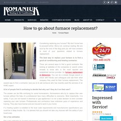 Find a Good Furnace Contractor in Edmonton