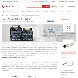 How to Achieve DWDM Over CWDM