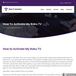 How to Activate My Roku TV - Activate Now