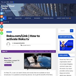 How to activate Roku tv