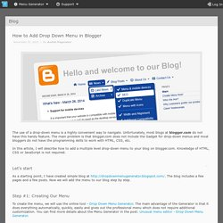 How to Add Drop Down Menu in Blogger