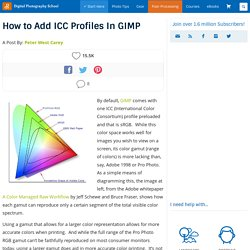 How to Add ICC Profiles In GIMP