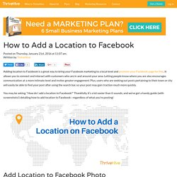 How to Add a Location to Facebook