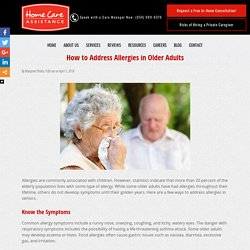 How to Address Allergies in the Elderly