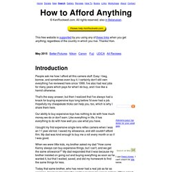 How to Afford Anything