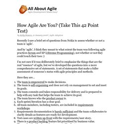 How Agile Are You? (Take This 42 Point Test)