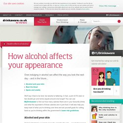 How alcohol affects your appearance