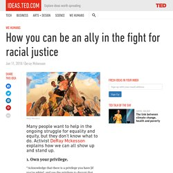 How you can be an ally in the fight for racial justice