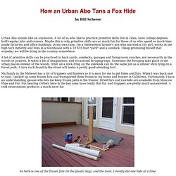 How An Urban Abo Tans a fox Hide