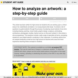 How to analyze an artwork: a step-by-step guide