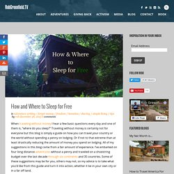 How and Where to Sleep for Free