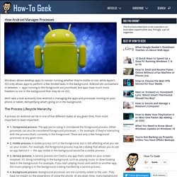 HTG Explains: How Android Manages Processes