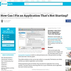 How to Fix a Mac Application That's Not Starting