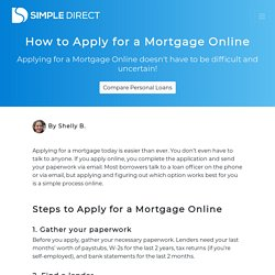 How to Apply for a Mortgage Online