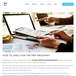How to apply for the PPP program?