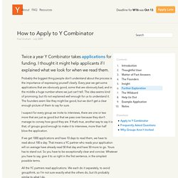 How to Apply to Y Combinator